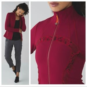 Lululemon Define Jacket Cranberry Red Snake Ziggy